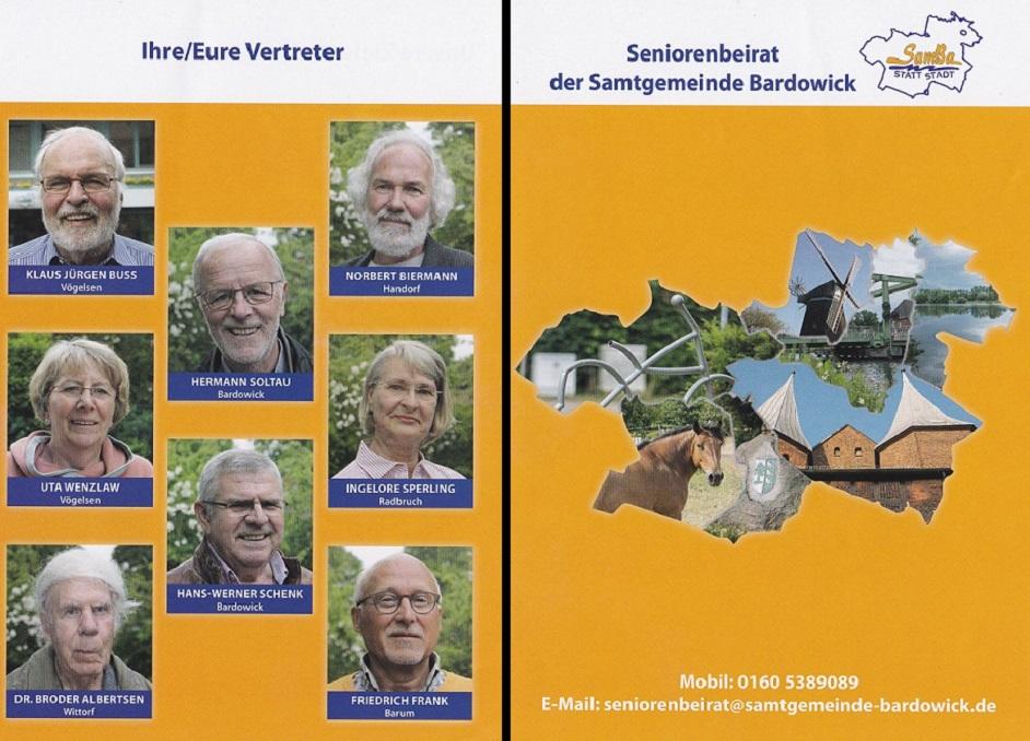 Flyer Seniorenbeirat Samtgemeinde Bardowick