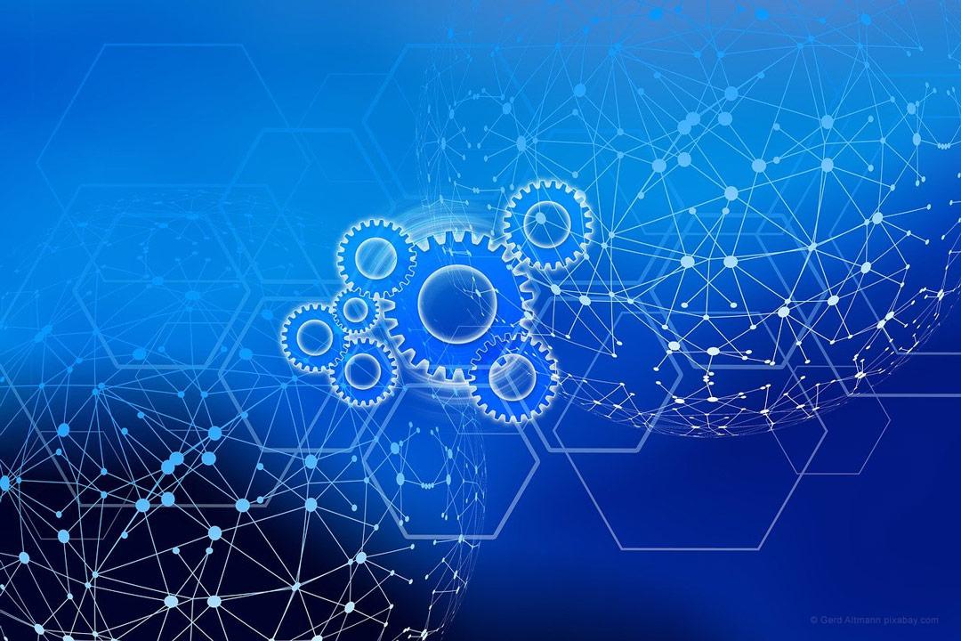 Digitalisierung durch Netzpunkte schematisch dargestellt